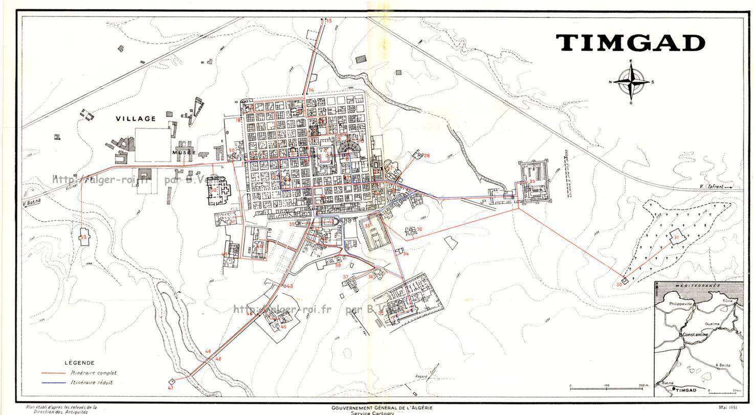 timgad  antique thamugadi le site  le role  l u0026 39 histoire      alger